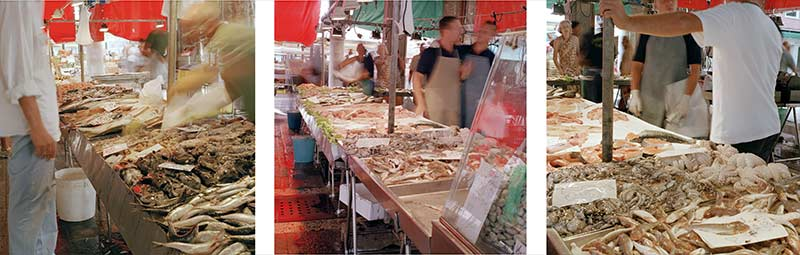 Tryptich - Rialto Market, Venezia, 2003 - Photograph by Jeff Curto