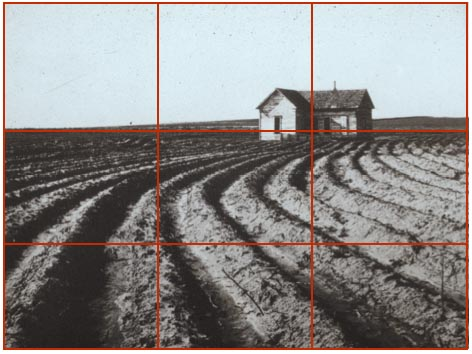 Dorothea Lange - Tractored Out -  Rule of Thirds
