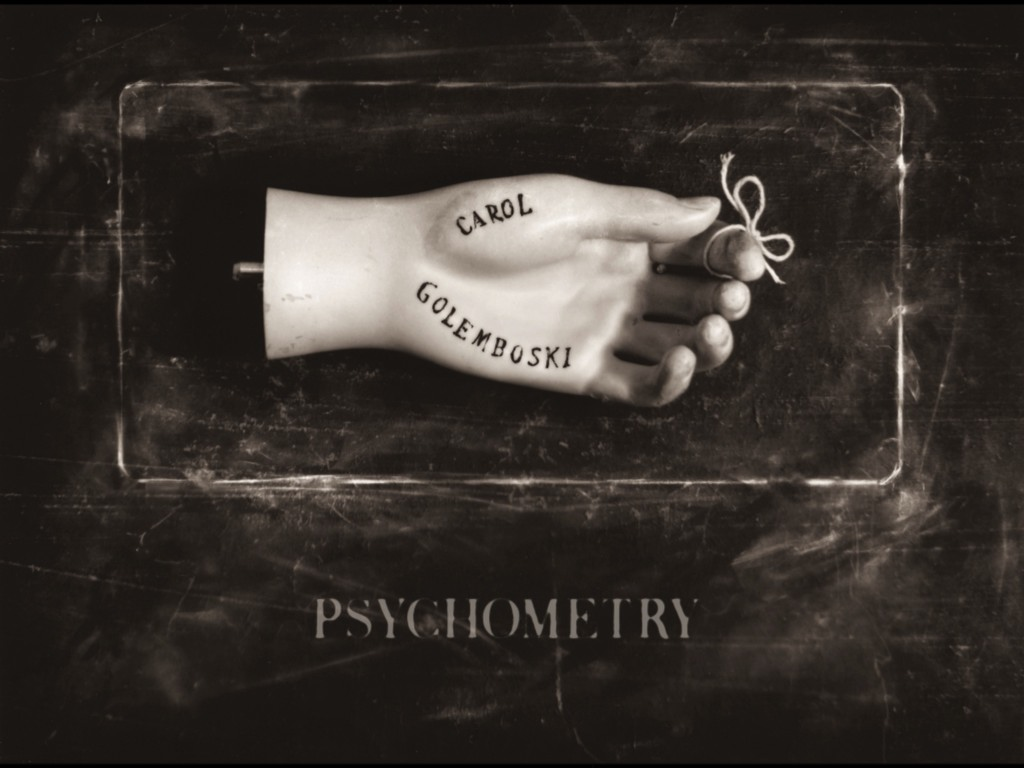 Title Screen for the Psychometry iPad app - Carol Golemboski