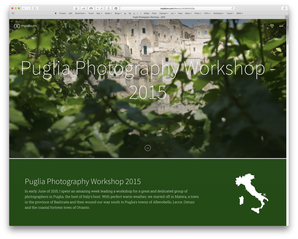 Puglia Workshop 2015 - A story made with MyAlbum