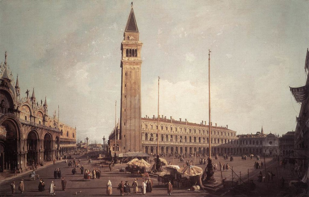 Piazza San Marco: Looking South West - 1757 by Canaletto (Giovanni Antonio Canal)