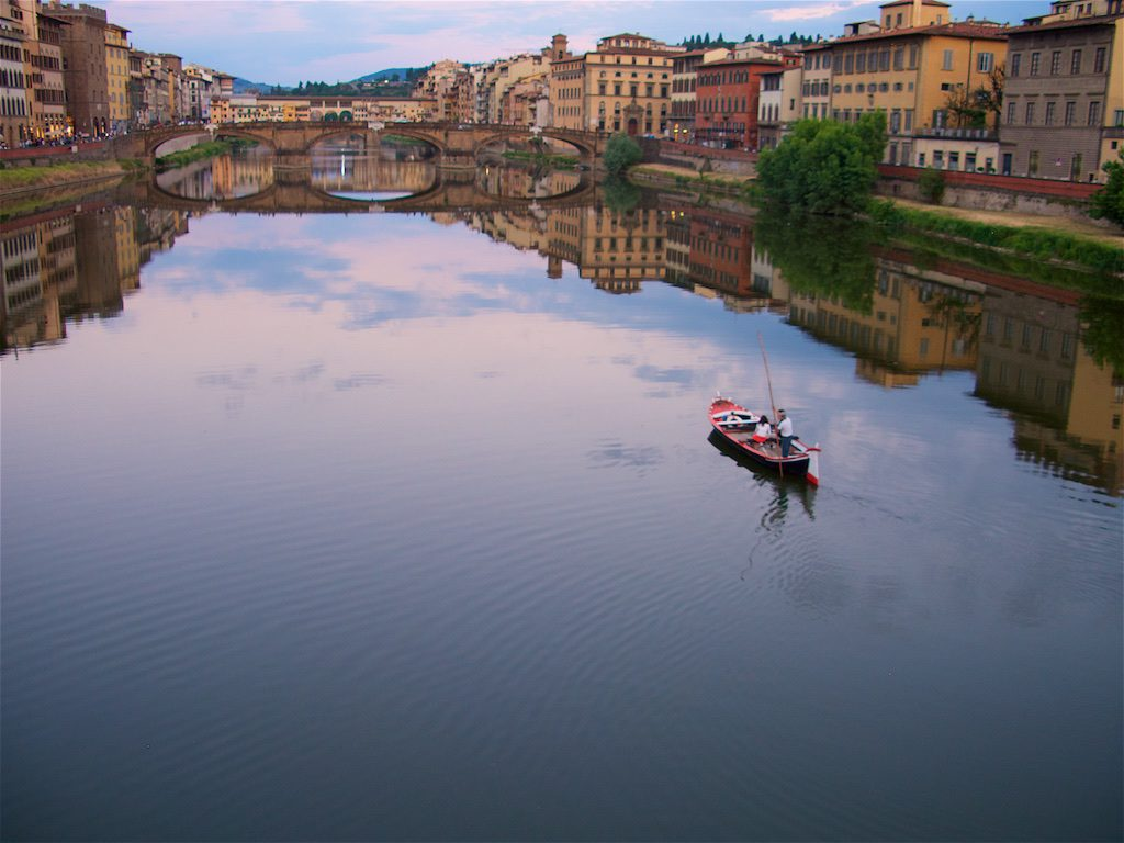 The River Arno, Florence - Photograph by Jeff Curto